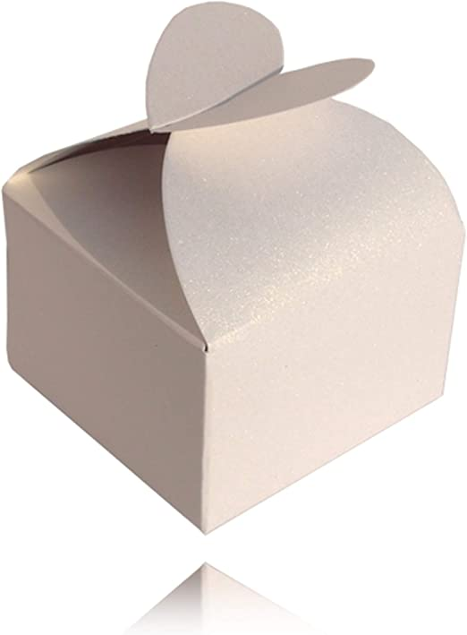 Einssein 12x Caja de Regalo Boda Enamorado Blanco Perla Cajas Bonitas para cajitas Regalos Bombones Carton bolsitas Papel chuches Bodas Bautizo pequeñas pequeña recordatorios comunion Navidad Decorar: Amazon.es: Hogar