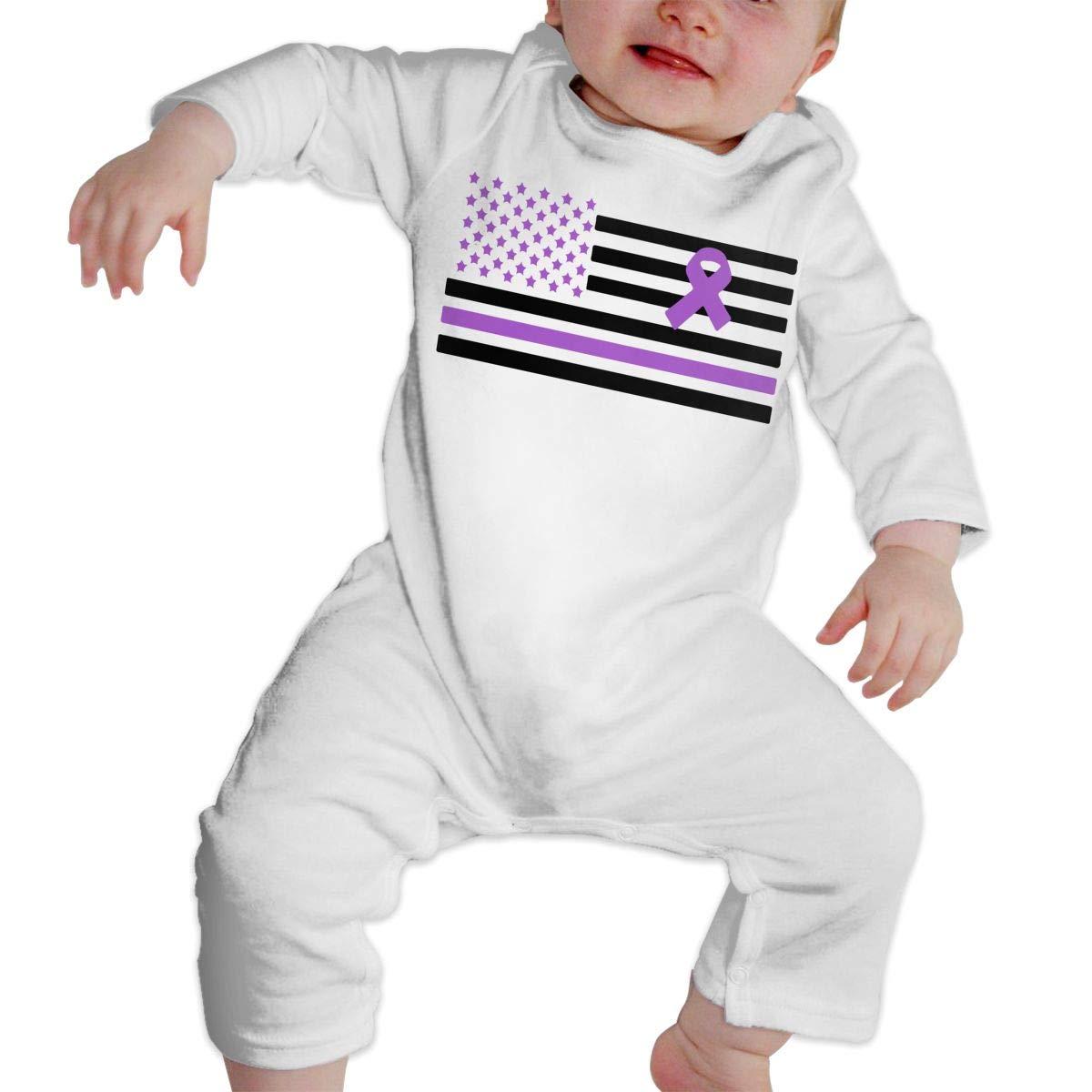 LBJQ8 Epilepsy Awareness Newborn Infant Baby Girls Soft /& Breathable Jumpsuit Overall Romper