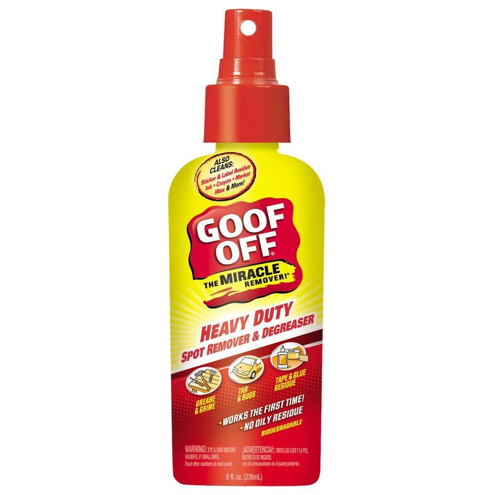 Goof Off FG728 Heavy Duty Spot Remover and Degreaser Pump Spray, 8-Ounce WM Barr 773533