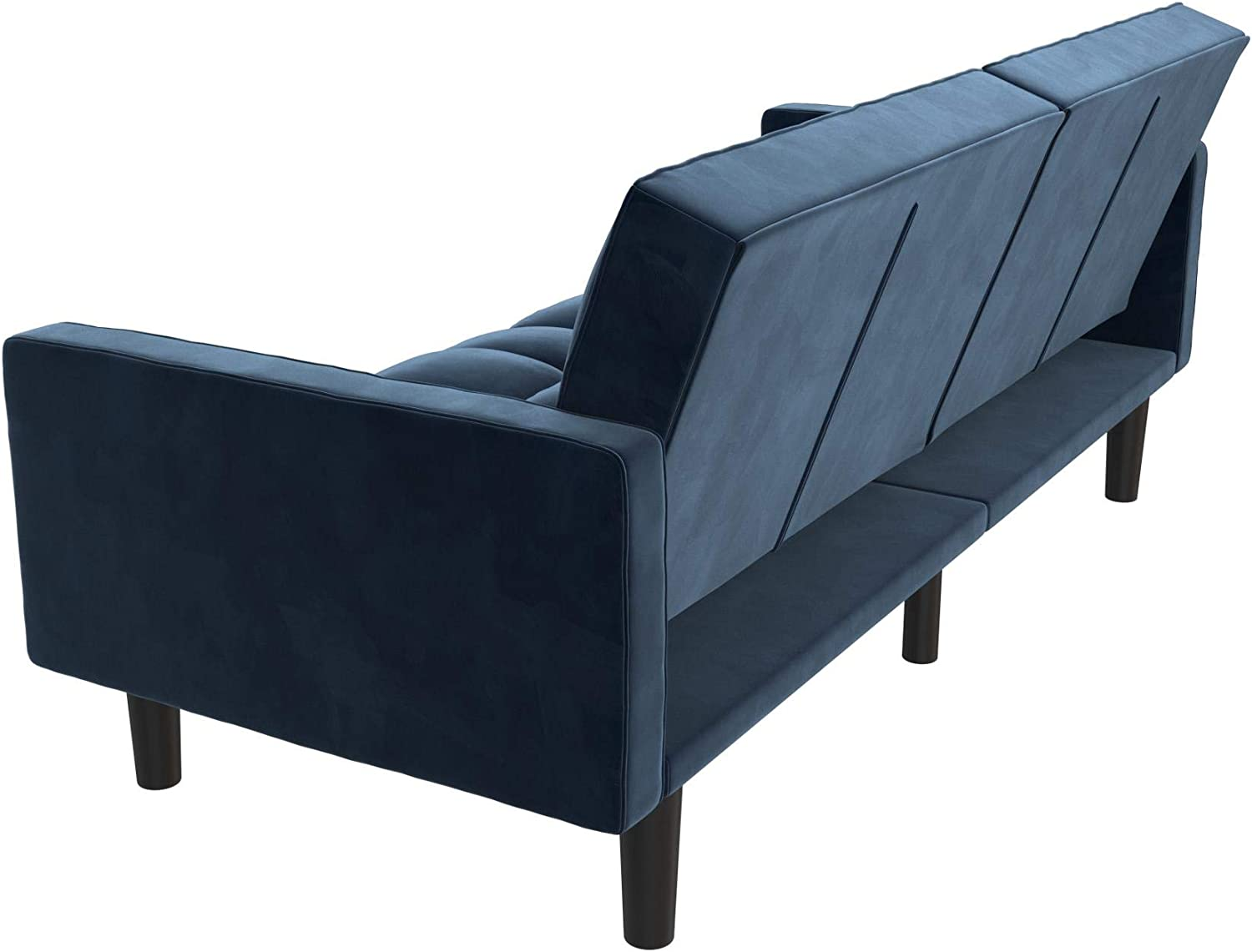Blue DHP 2253619 Harper Convertible Sofa Sleeper Futon with Arms