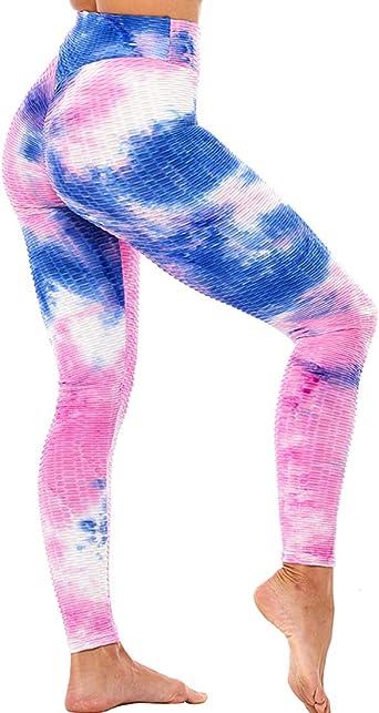Women High Waist Yoga Pants Anti Cellulite Push Up Leggings Exercise Trousers QQ