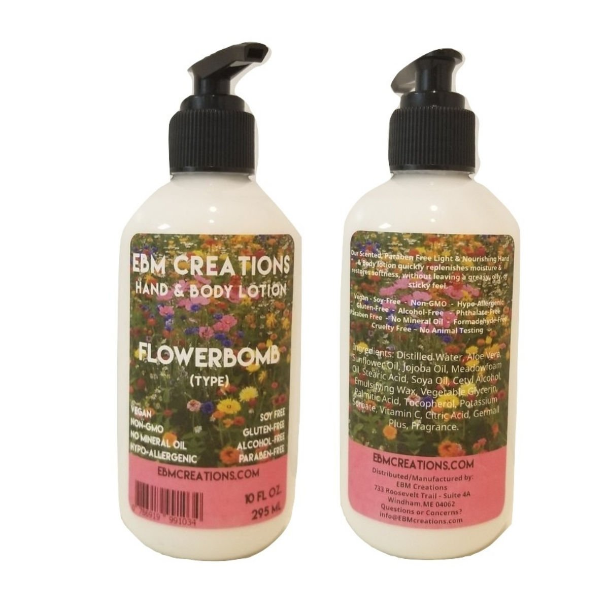 1-10oz Flowerbomb Type Hand & Body Lotion - Paraben Free!