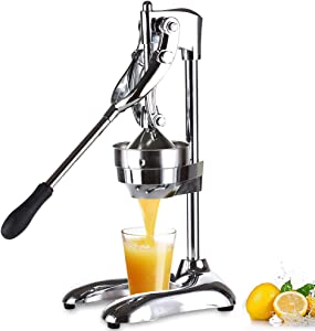 Citrus Juicer, Orange Lemon Manual Hand Squeezer, Stainless steel glass Manual Citrus Press Juicer, Lemonade Stand Juicer Machine and Squeezer