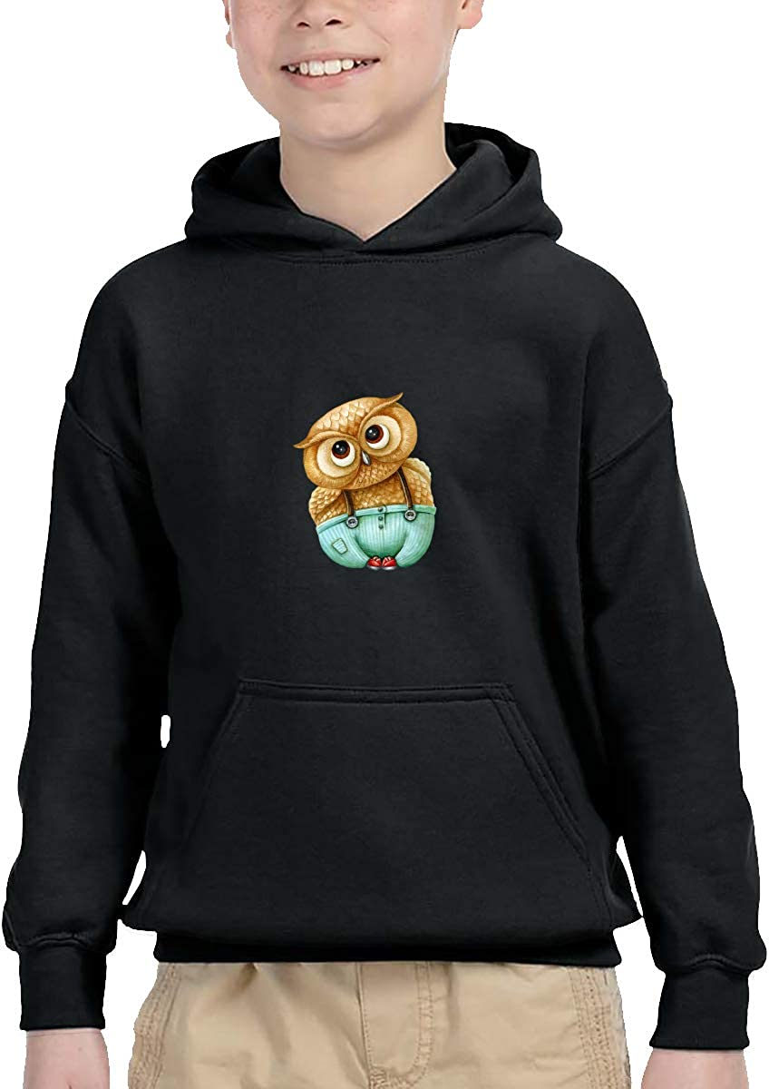 Sakanpo Lovely Owl Pullover Hoodie Sweatshirt Teens Hooded for Boys Girls