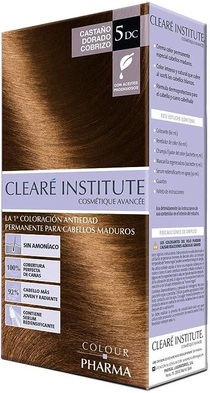Colour Pharma|Tinte Sin PPD ni Amonicaco | Coloración Antiedad | 100% Cobertura de Canas Rebeldes, Con Serum Redensificante | 5DC. Castaño Dorado ...
