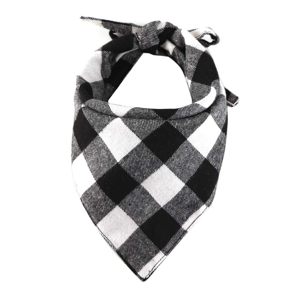 Egurs 3 Pack Bandane per Cani Pet Scarf Plaid Triangle Bavaglini Sciarpa Accessori per Cani Gatti Animali Animali Rosso Blu Bianco Rosso Blu Bianco