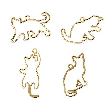 KunmniZ - 4 colgantes de marco con forma de bisel para gatos ...