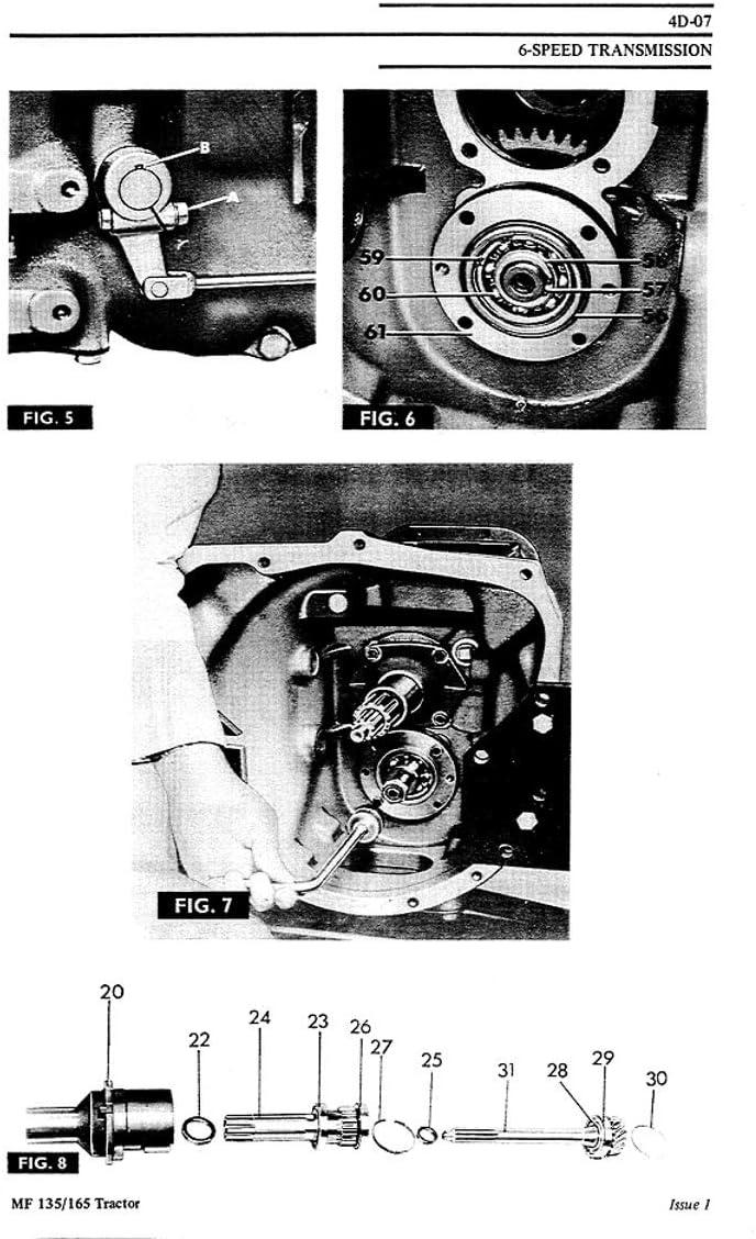Massey Ferguson Mf 135 148 - Manual de reparación de tractor: Amazon.es: Bricolaje y herramientas