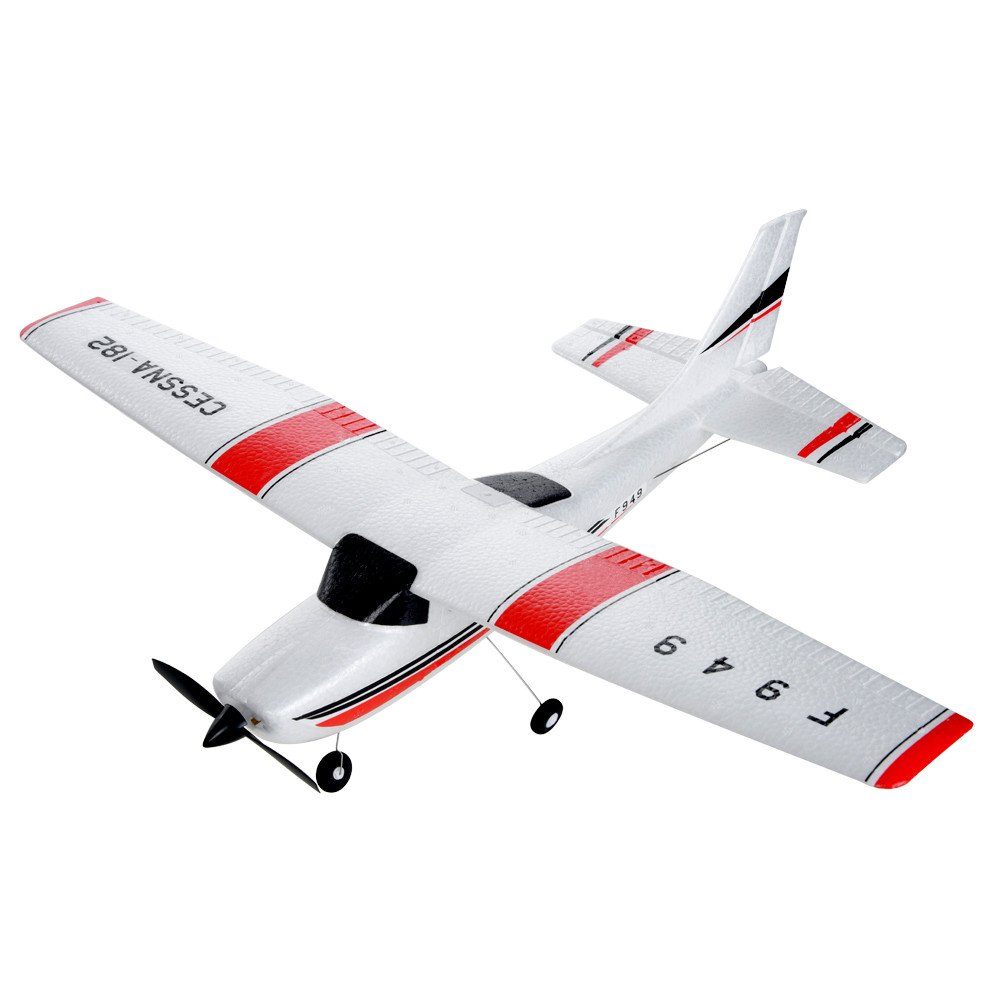 Remote Control Airplane for Beginners &Intermediate Flight Game Players F949 3CH 2.4G RC Airplane RTF Glider EPP Composite Material 14+,Designed According To Cessna-182 Plane (White) by succeedtop ❤️ Ship from US ❤️ (Image #10)