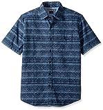 U.S. Polo Assn. Men's Slim Fit Stripe, Plaid Or Print Long Sleeve Sport Shirt, 9875-Classic Navy, L