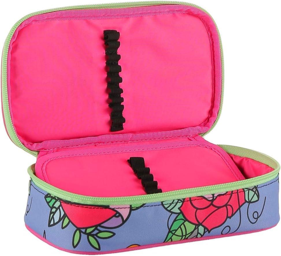 SWALLOW Rosa Azzurro porta penne PORTAPENNE round plus BIG scuola SEVEN the double