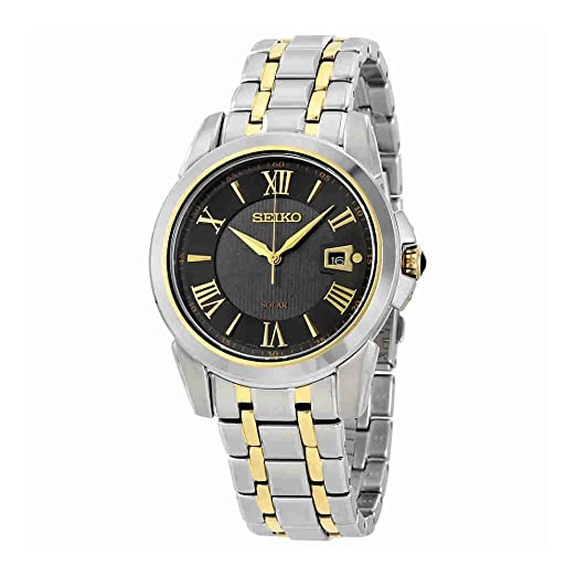 SEIKO LE Grand Sport Reloj DE Hombre Solar 42MM Caja DE Acero SNE398: Seiko: Amazon.es: Relojes