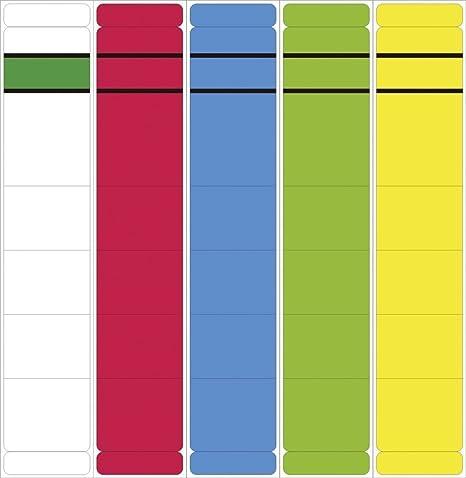Etiquetas para archivadores – Corto, Ancho carteles, 192 x 60 mm, amarillo