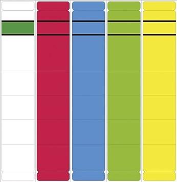 - Etiquetas para archivadores - Corto, Ancho carteles, 192 x 60 mm, amarillo, 10 pieza (cantidad=2): Amazon.es: Oficina y papelería