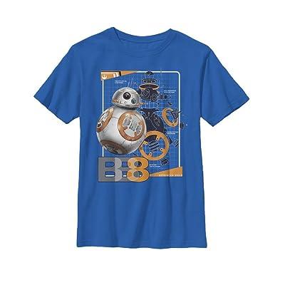 Fifth Sun Star Wars The Last Jedi Boys' BB-8 Schematics T-Shirt
