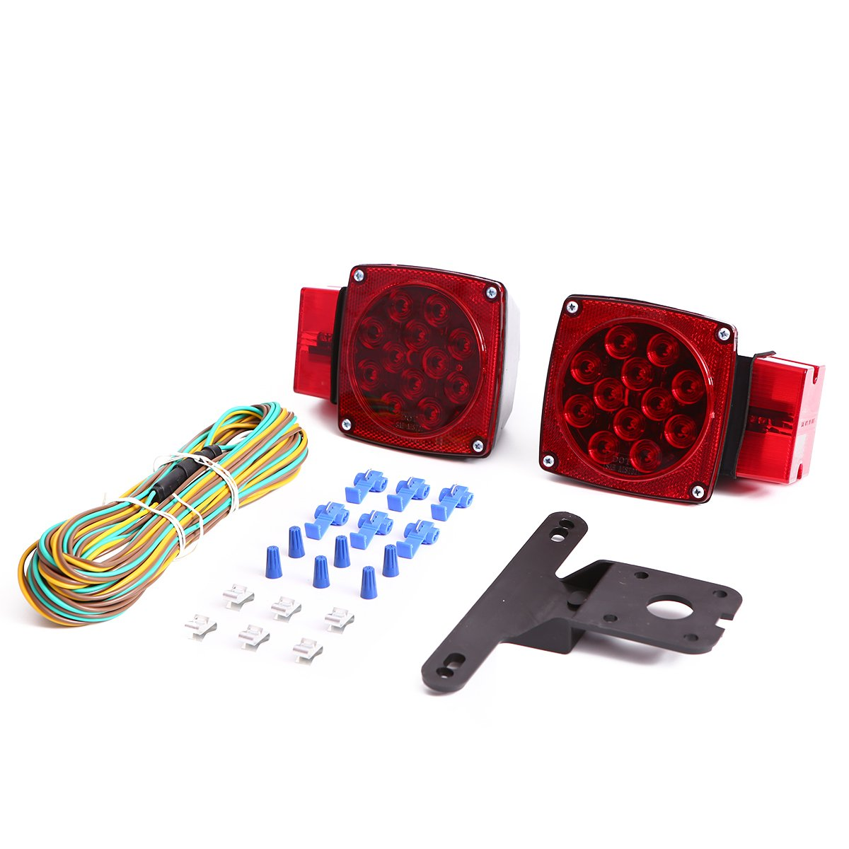 CZC AUTO 12V LED Submersible Trailer Tail Light Kit Stop Tail Turn Signal Lights for Over 80 Inch Boat Trailer Truck RV Marine