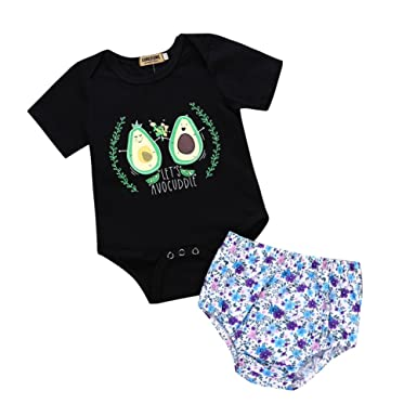 b7c456945 Timall Newborn Baby Boy Girl Clothes Floral Infant Cotton Romper ...