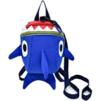 Safety Kids Leash Backpack with 2 in 1 Harness Leash Jxh-Life Lunch Boxes Carry Bag Cute Shark for Toddlers Boys Girls Little Playful Preschool