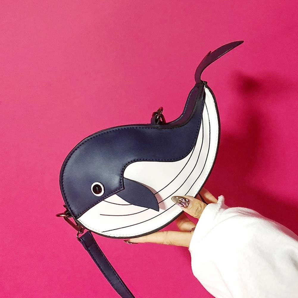 BZWZH Womens Handbag Cute 3D Dolphin Shoulder Bag Creative Mini Cartoon Chain Purse Personality Messenger Totes