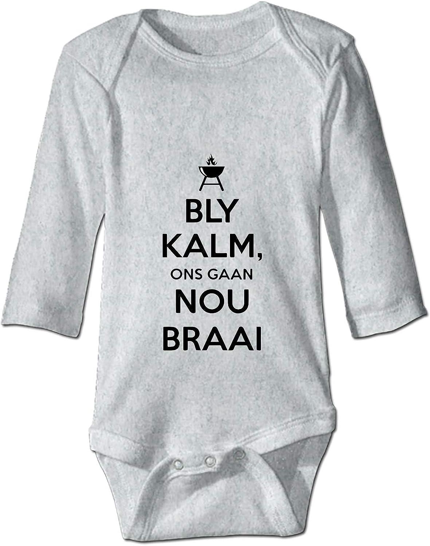Ons Gaan NOU Braai Baby Bodysuit Infant Unisex Long Sleeve Bodysuit YSKHDBC Bly Kalm