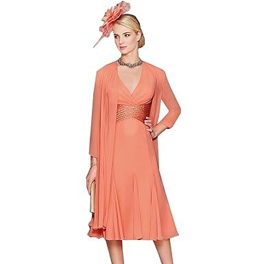 Kleid hochzeit lachs