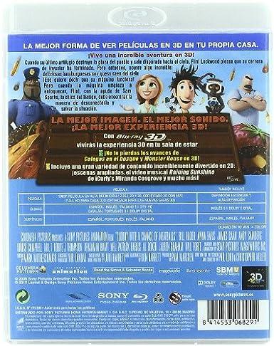 Lluvia De Albondigas-3D(Bd) [Blu-ray]: Amazon.es: Personajes ...