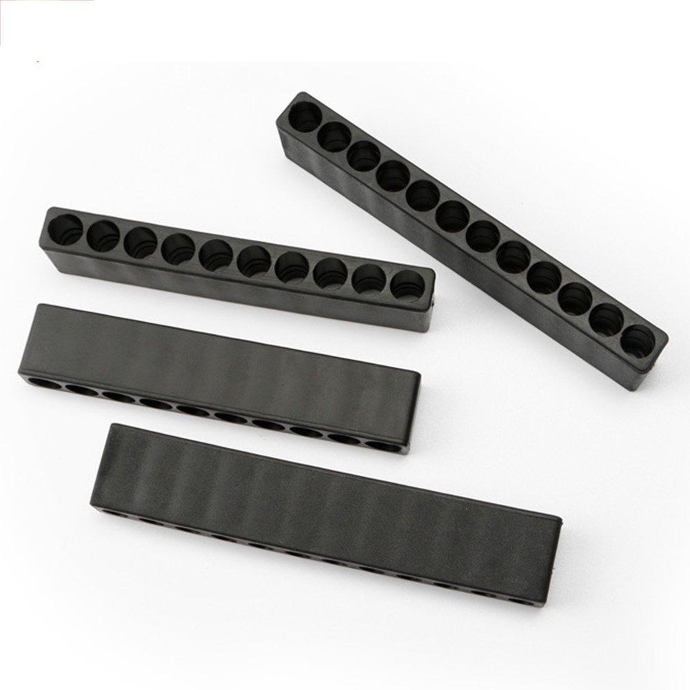 Wie abgebildet 10 holes emvanv 1/Kunststoff screhex Schaft-Schraubendreher Bit-Halter Schraubendreher-Etui mit