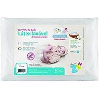 Travesseiro LátexLavavel Baby Antissufocante Capa Extra Percal Fibrasca Branco
