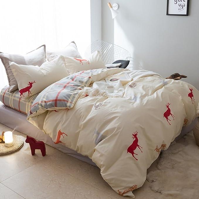 jibuteng Home Textiles poco ciervo juego de funda de edredón, 100 ...