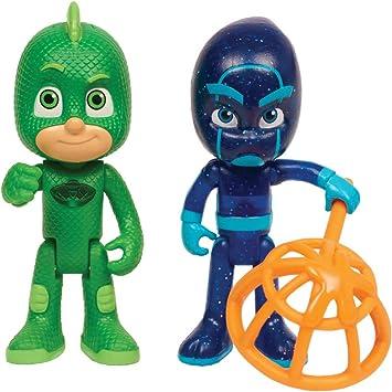 Pj Masks - Pack De Dos Figuras Gekko Y Ninja Nocturno ...