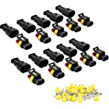 216PCS HSEAMALL Waterproof Car Electrical Connector Terminals Plug 1//2//3//4//5//6 Pin with Automotive Blade Fuses for Motorcycle Scooter Truck Boats