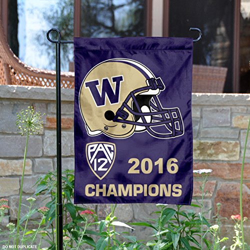 University of Washington Huskies Pac 12 Conference Champions Garden Flag