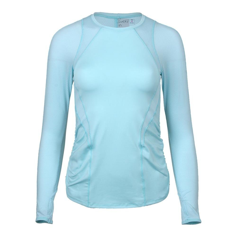 Lucky In Love Women`s Contour Long Sleeve Tennis Top Aquafrost-(655295867397) by Lucky In Love (Image #1)