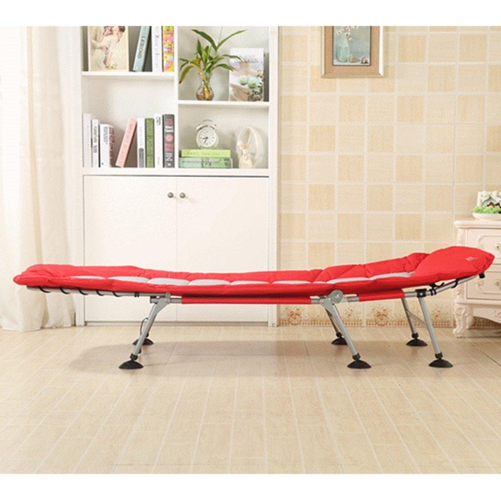 Einfaches Lounge - Klappbett tragbares Fischerbett Bett für Büroschlaf Einzelbett März im Freien Strandbett März Einzelbett 6882e7