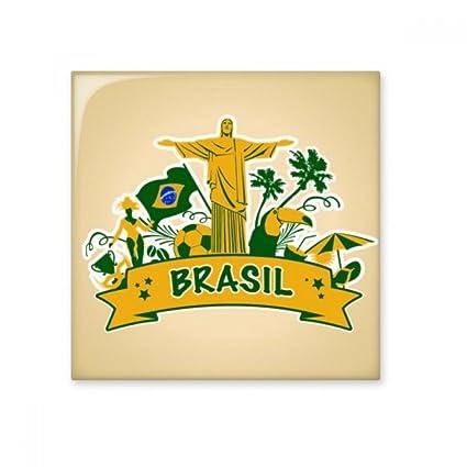 Soccer Mount Corcovado Parrot Brazil Cultural Element Ceramic Bisque ...