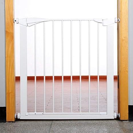 SuRose Puertas para Mascotas Extra Altas y Anchas para Puertas Escalera Patio de Juegos Protector de Pared Metal Blanco Bebé Perro Gato Puerta77-126cm Ancho (Tamaño: 84-91cm): Amazon.es: Deportes y aire libre
