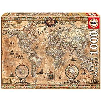 Amazon educa antique world map 1000 piece puzzle toys games educa antique world map 1000 piece puzzle gumiabroncs Gallery