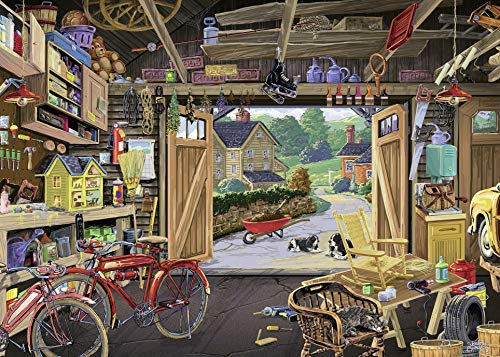 Ravensburger - Grandpas Garage - 300 Large Piece Jigsaw Puzzle for Adults – Every Piece is Unique, Softclick Technology Means Pieces Fit Together Perfectly