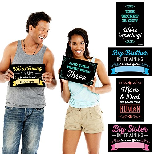 Big Dot of Happiness Pregnancy Announcement  Photo Prop Kit  10 Count
