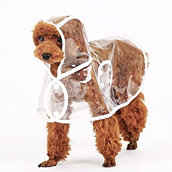 Buy Aigumi Waterproof Puppy Raincoat Transparent Pe Rainwear Clothes