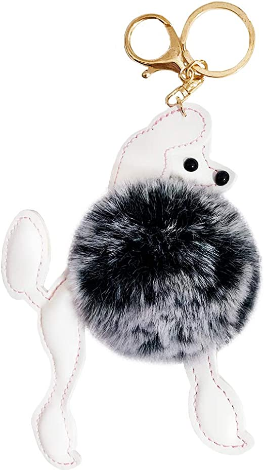 Cute Lovely Fluffy Doggy Hand Bag Purse Pink