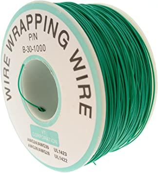 Bluesky 0.25mm Red Yellow Blue Green White Black Purple Tin-Plated Copper Wire-Wrapping Wire 30AWG 305M //1000ft black