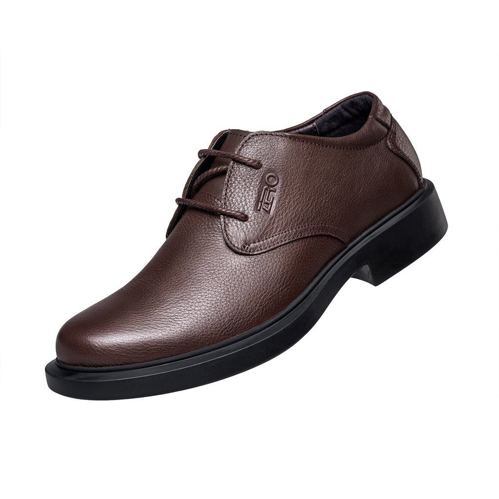 ZRO Men's Round Toe Oxford Shoes Lace Up Casual business Brown US 6