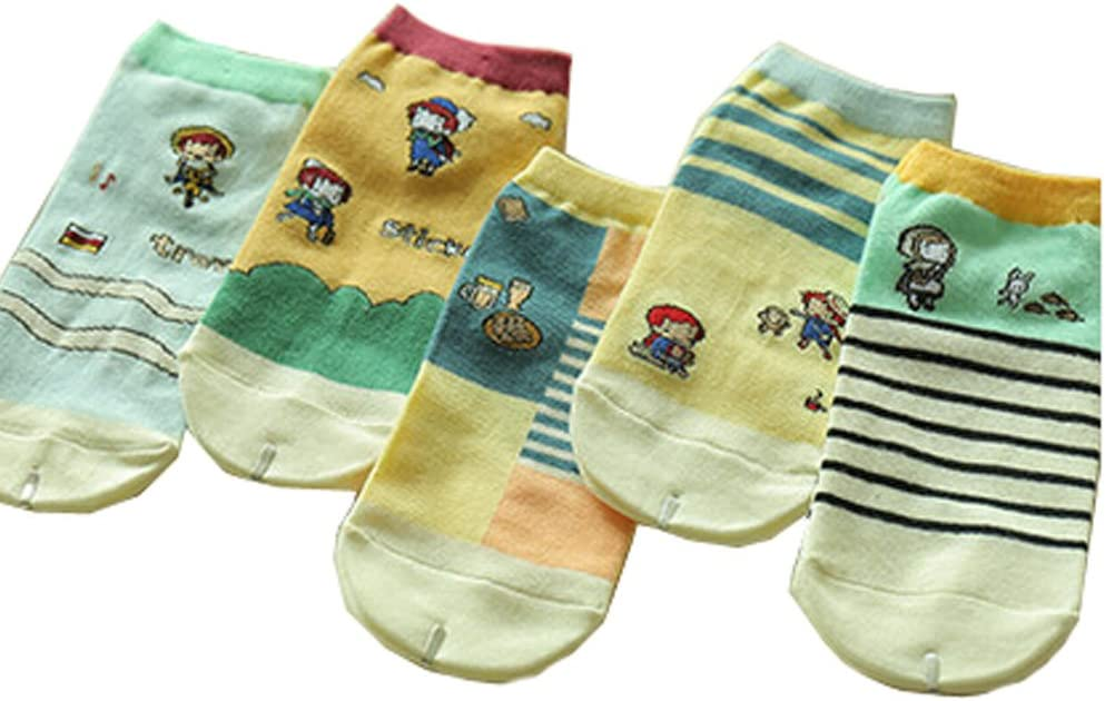 Blancho Mode 5 Paires Colorful No Show Socks Socquettes