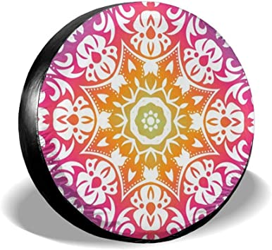 Teal and Purple Mandala Flower You Design Personalized Tire Cover Wheel Tire Cover Fit for All Cars