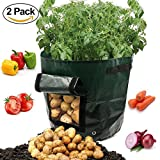#8: Potato Grow Bags Garden Vegetables Planter Bags with Flap and Handles Planting Bag for Potato, Carrot, Tomato, Onion and so on