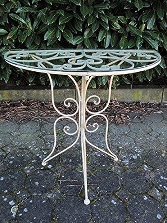Wandtisch Gartentisch Eisen Terrasse Gartenmobel Vintage Look Robust