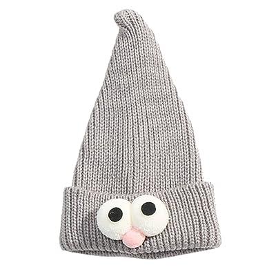 Qiao Nai (TM) Enfant Bébé Garçon Fille Maille Bonnet Chapeau Casquette  Magicien Hiver Tricot Yeux Forme Cadeau f0cd6a017cd