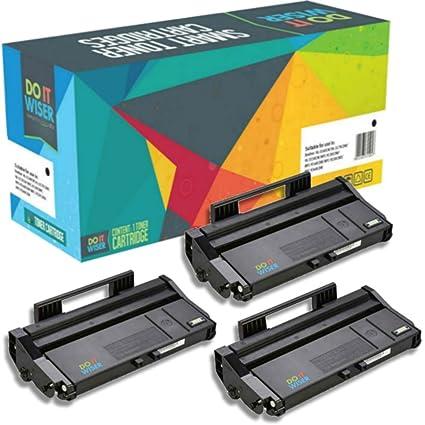 Do it Wiser ® 3 Cartuchos de Tóner Compatibles para Ricoh Aficio SP100e SP100 SP100SU 100SF SP112 112SU 112SF - 407166