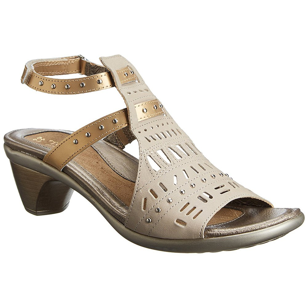 NAOT Vogue Avantgarde Women Sandals B01M3T9FHF 38 M EU|Linen Lthr/Gold Sheen Lthr